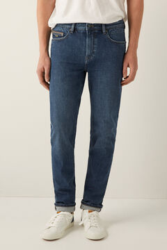 Springfield Medium-dark wash bi-stretch slim fit jeans bluish