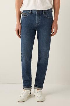 Springfield Jeans slim bi-stretch lavado medio oscuro azulado