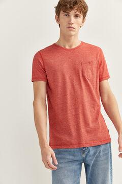 Springfield T-shirt textura bolso cochonilha