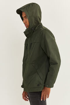 Springfield WATER-REPELLENT, WINDPROOF, AND BREATHABLE SHORT PARKA dark green