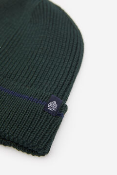 Springfield RIB KNIT HAT dark green
