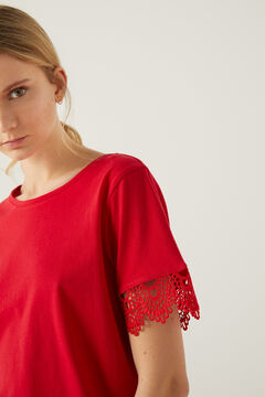 Springfield Crochet sleeves t-shirt rust
