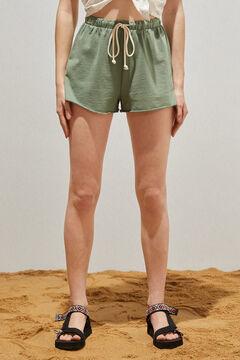 Springfield Organic cotton logo shorts grey