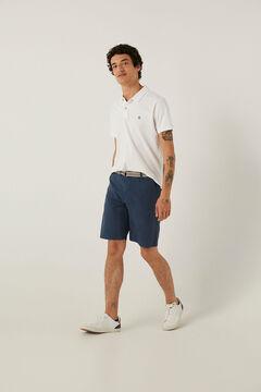Springfield Lightweight stretch belted Bermuda shorts bluish