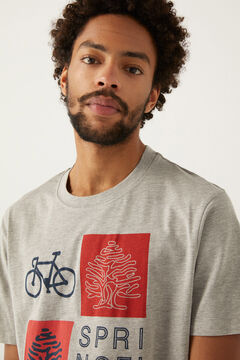 Springfield T-shirt logo cinza