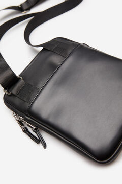 Springfield Small faux leather crossbody bag black