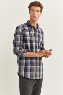 Springfield CHECKED SHIRT gray