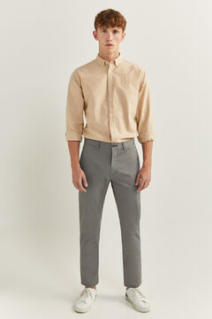 Springfield TEXTURED EFFECT MICRO PRINT CHINOS grey