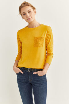 Springfield Camiseta Bolsillo Crochet color