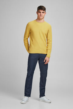 Springfield Plain round neck jumper white