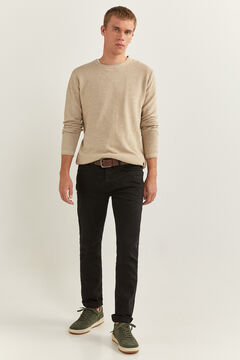 Springfield ROLL EDGE NECK TWISTED YARN JUMPER camel