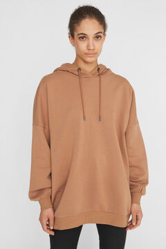 Springfield Oversize hooded sweatshirt brown