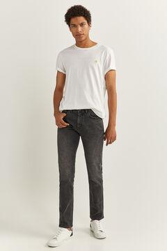 Springfield WASHED BLACK SKINNY JEANS black