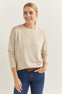 Springfield Soft Feel Pearls T-Shirt beige