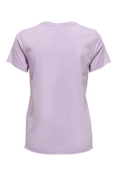 Springfield Printed short-sleeved t-shirt purple