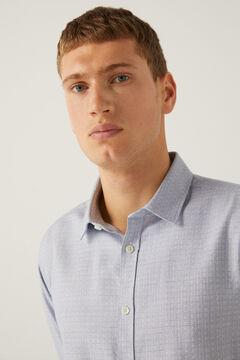 Springfield Textured shirt bluish