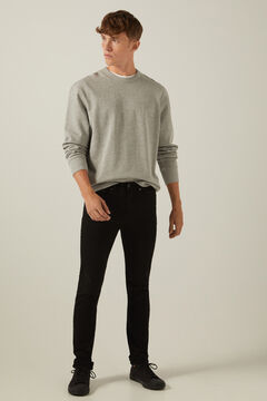Springfield Skinny fit washed coloured 5-pocket trousers black