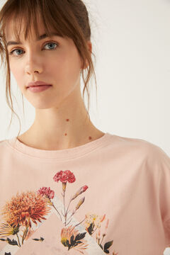 Springfield Sweat-shirt « Everything » Fleurs Sauvages rose
