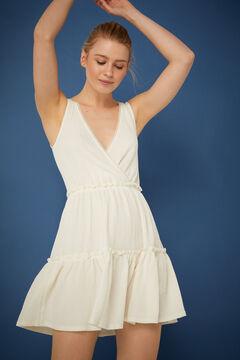 Springfield Short dress with flounced skirt grey