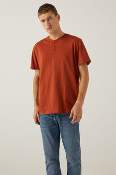 Springfield Henley-neck t-shirt deep red