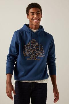 Springfield Tree hoodie bluish