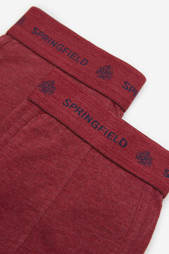 Springfield 2-PACK ESSENTIAL BOXERS deep red