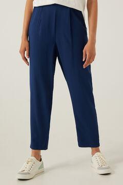 Springfield Long fluid trousers blue mix