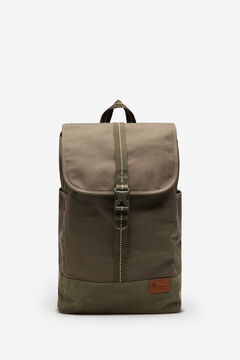 Springfield Nylon backpack in a mix of khaki fabrics dark gray