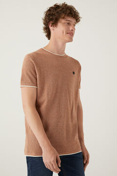 Springfield Mottled short-sleeved jumper brown