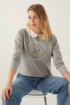 Springfield Peter Pan collar sweatshirt grey