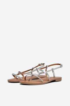 Springfield Flat metallic sandals gray