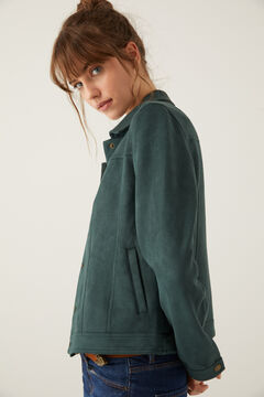 Springfield Faux suede jacket oil