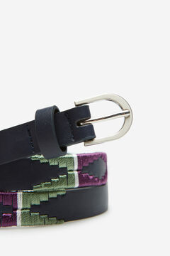 Springfield Embroidered belt blue