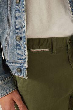 Springfield Slim fit micro-print chinos grey