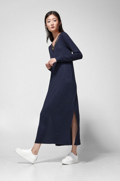Springfield - Lace collar midi dress - 2