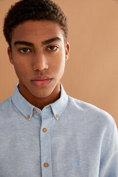Springfield Linen shirt blue