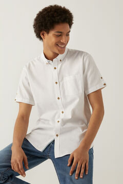 Springfield Camisa manga corta dobby blanco