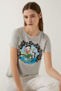 Springfield T-shirt « Betty Boop » Surf gris