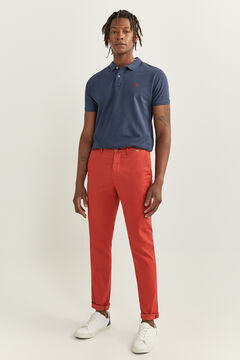 Springfield CHINO MICROESTAMPADO terracotta