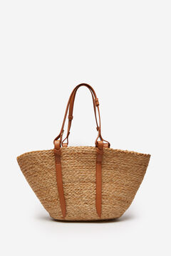 Springfield Combined basket bag with handles beige