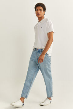 Springfield MEDIUM-LIGHT WASH CARROT LEG JEANS blue