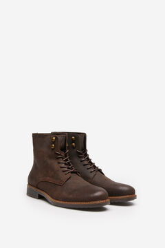 Springfield WAXED LEATHER BOOT brown