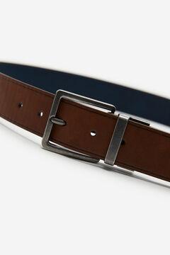 Springfield Cinturón efecto piel reversible marrón