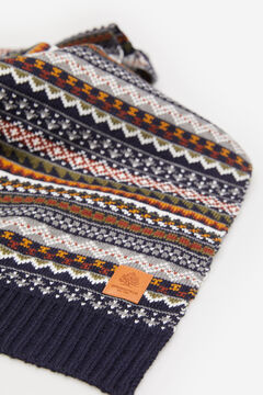 Springfield MULTICOLOURED JACQUARD SCARF blue