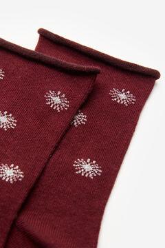 Springfield Lurex Stars Socks terracotta