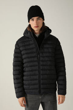 Springfield Detachable hood quilted thermal jacket black