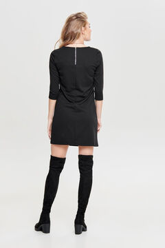 Springfield 3/4-length sleeve back zip jumper dress black