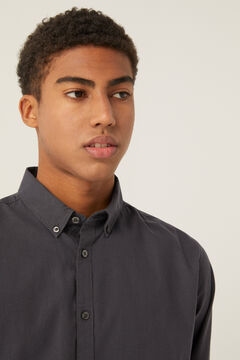 Springfield Stretch pinpoint shirt grey