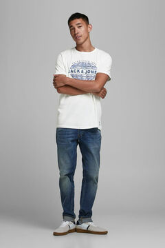 Springfield Jack & Jones logo t-shirt white