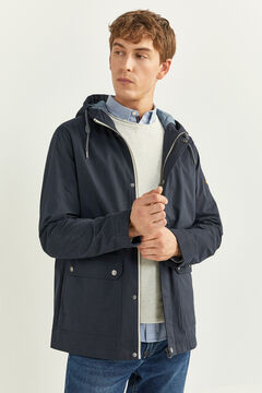Springfield WATER-REPELLENT HOODED PARKA blue